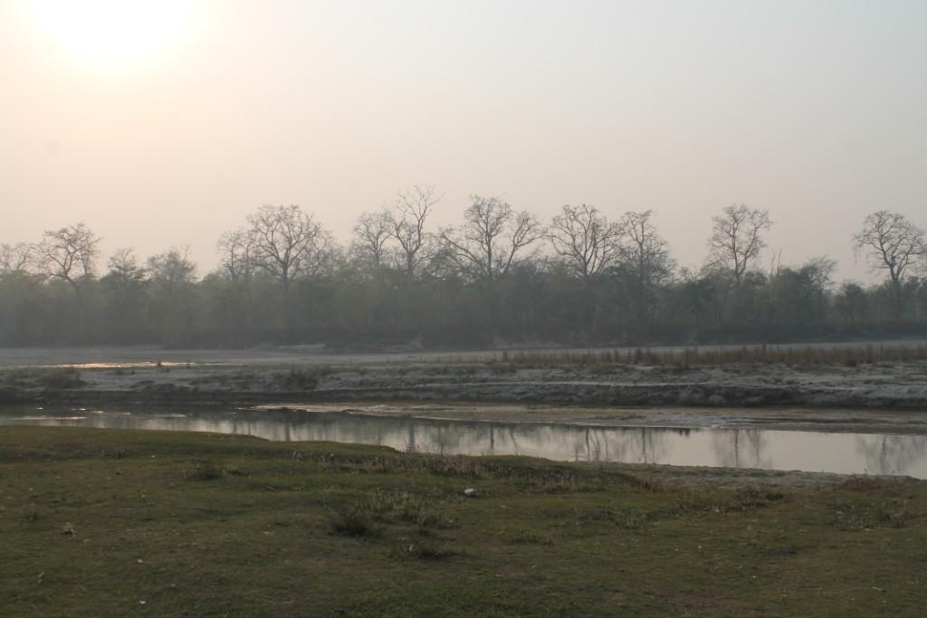 ...zu einer schönen Stelle am Fluss.